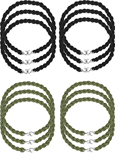 Jovitec 12 Pieces Elastic Boot Straps Military Leg Straps Blousing Garters with Metal Hooks for Navy Army Air Force (Color Set 1) from Jovitec