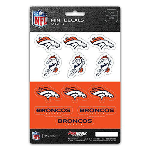 Team ProMark Denver Broncos Decal Set Mini 12 Pack