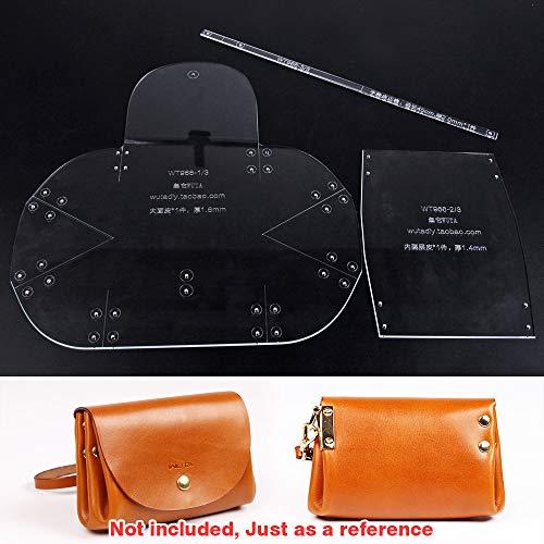 (WUTA Leather Mini Lady Clutch Leather Template Handbag Acrylic Pattern Craft Tool 966 )