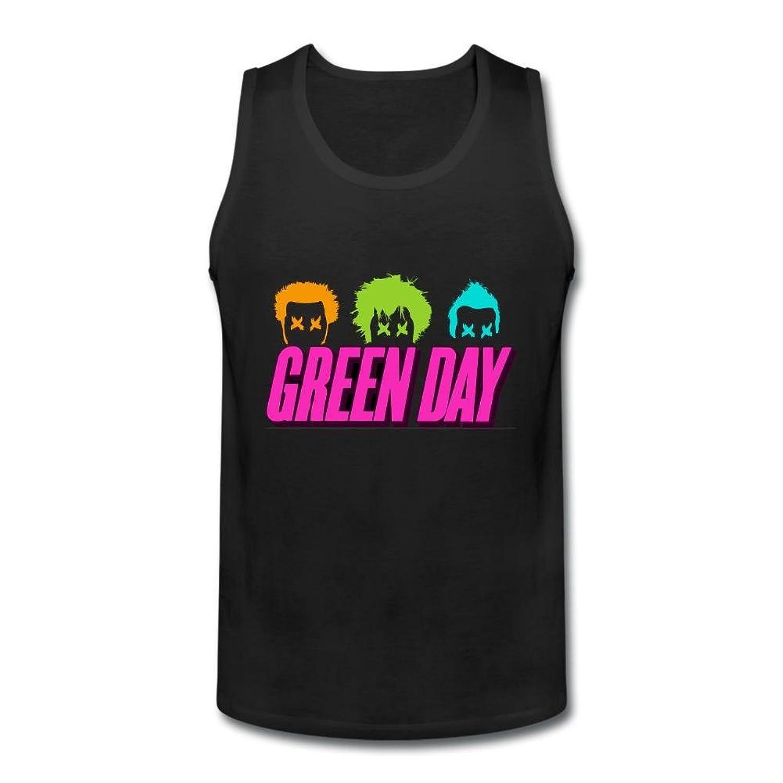 OULIN Men's Green Day Logo Vest Black XXXL