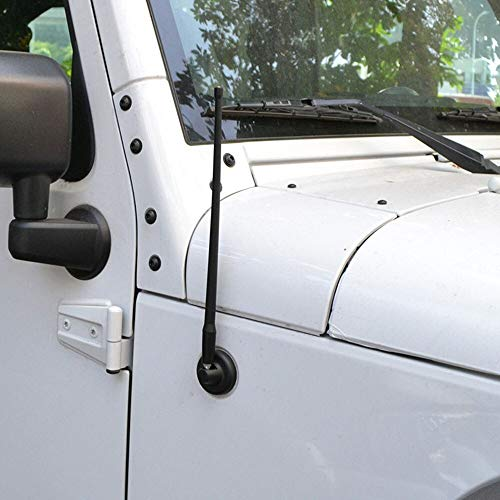 Cacys-Store - Car Auto FM AM Signal Antenna (13-inch) For Jeep Wrangler JK Sahara Sport Rubicon X & Unlimited 2007-