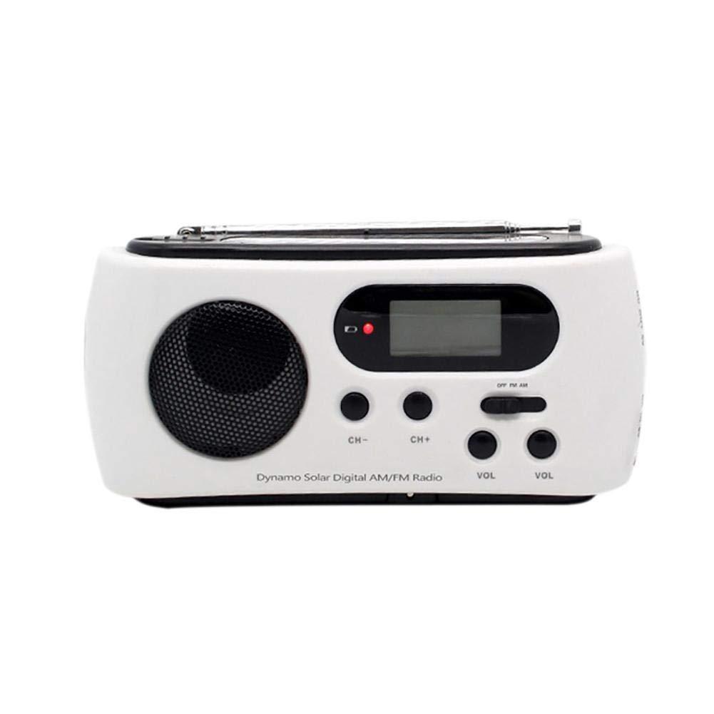 Seatechlogy Portable Emergency Weather Radio, Manual Self-Generation, with LED Flashlight, Emergency Mobile Phone Charge 15 7 4CM