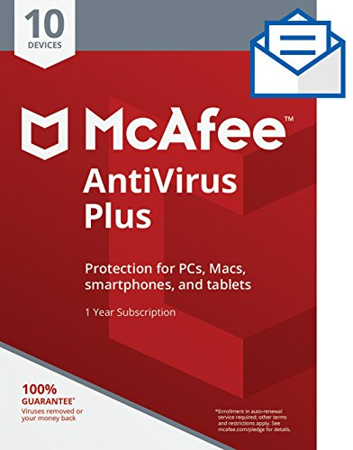 Mcafee Antivirus Plus 10 Device  Activation Card By Mail