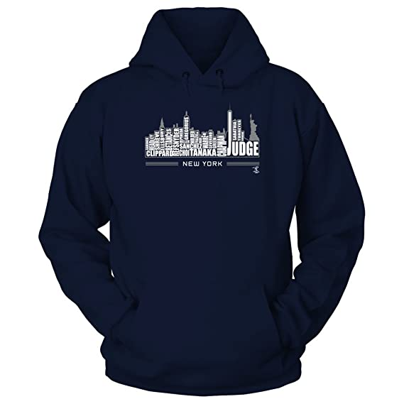 4f66dda66 Amazon.com: FanPrint New York Skyline Aaron Judge - Official Sports Apparel:  Clothing