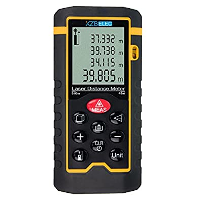 Laser Range Finder 40M/131ft Distance Meter Measure Area Volume Tester Build Measure Device Test Tool Handheld