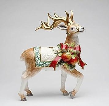 Cosmos Gifts 10538 Victorian Harvest Reindeer Figurine, 11-7 8-Inch