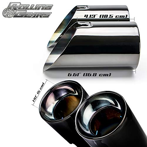 Rolling Gears 3.5 F30 F31 Dual Exhaust Muffler Tailpipe Glossy Black
