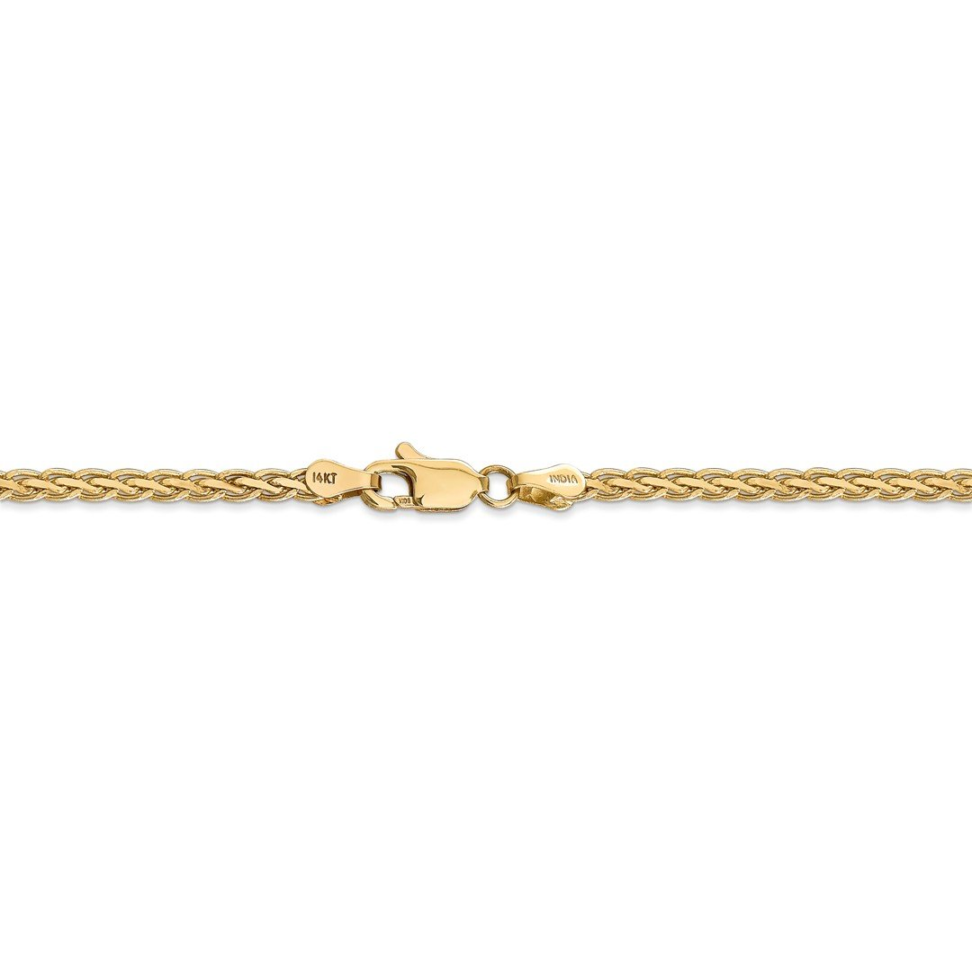 ICE CARATS 14k Yellow Gold 3mm Flat Link Wheat Bracelet Chain 7 Inch Fine Jewelry Ideal Mothers Day Gifts For Mom Women Gift Set From Heart by ICE CARATS (Image #5)