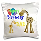 Best 3dRose Dad Tshirts - 3dRose Happy Birthday Dad. Giraffe. Balloons. Kids Quotes Review