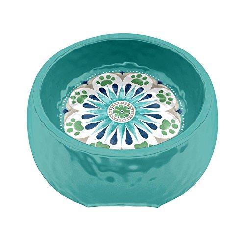 50%OFF TarHong Alfresco Medallion Turquoise Pet Bowl Melamine - Medium