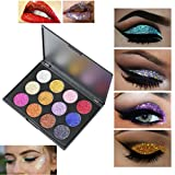 Eyeshadow Palette Makeup Matte Shimmer 12 Colors High Pigmented Cosmetic Eye Shadows (Multicolor)