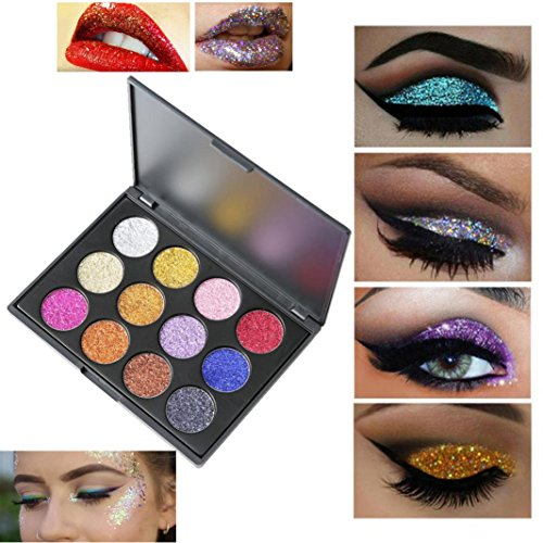 Eyeshadow Palette Makeup Matte Shimmer 12 Colors High Pigmen