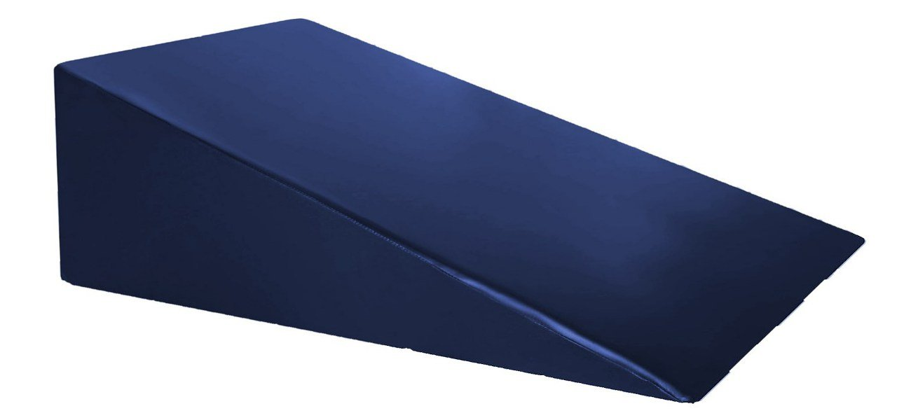 Vinyl Covered Foam Positioning Wedge Support Pillow (24'' X 24'' X 12'') Navy