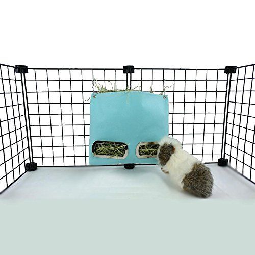Guinea Pig Hay Bag Feeder (Small, Aqua)