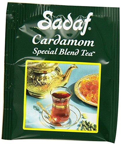 - Sadaf Special Blend Tea with Cardamom Flavor, 50 Tea Bags