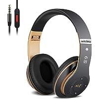 Auriculares Cerrados Inalámbricos 6S, Alta fidelidad Estéreo Auriculares Estéreo Inalámbricos Plegables, Micrófono…