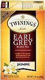 Twinings of London Jasmine Earl Grey Black Tea Bags, 20 Count (Pack of 6)