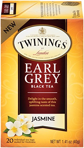 Twinings of London Jasmine Earl Grey Black Tea Bags, 20 Count (Pack of 6)