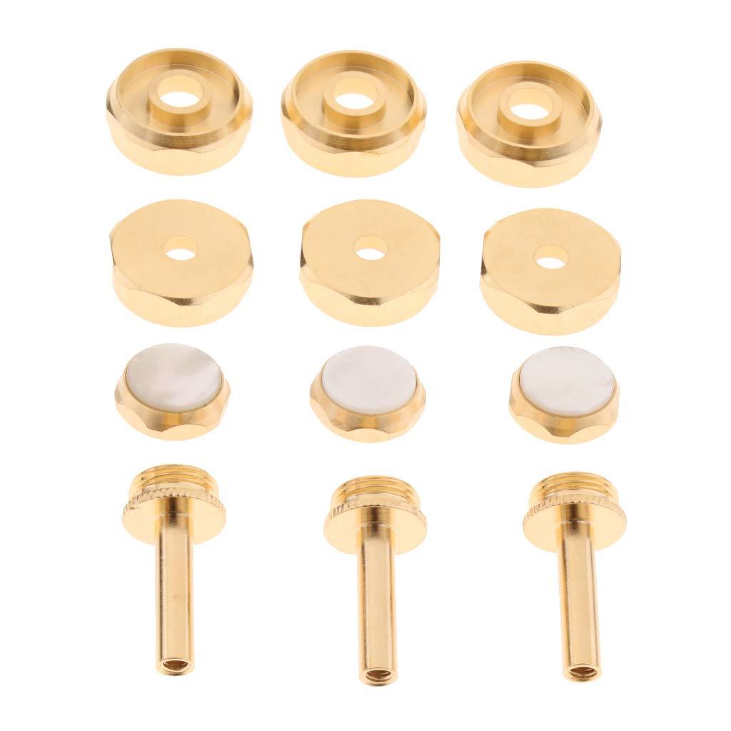 H HILABEE Botones Cubierta Tornillo Tapa de Metal Pr/áctico para Trompeta Trompetista Color Oro