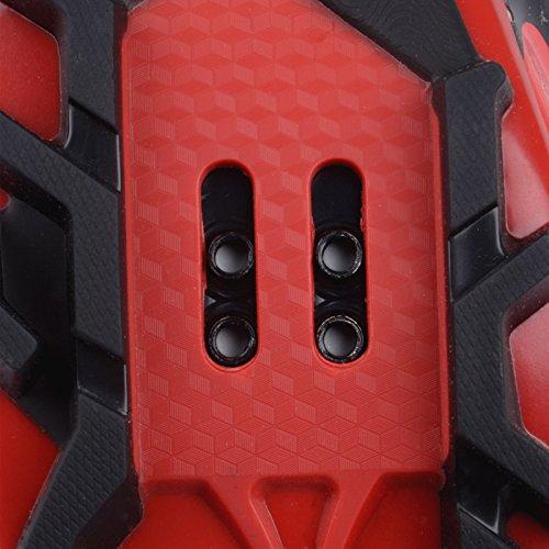 MTB-Schuhe gut für Damen und Herren der EU Größe 44, Fuß-Länge: 280mm, Breite 91.90mm Vorfuß-Schwarz/ rot