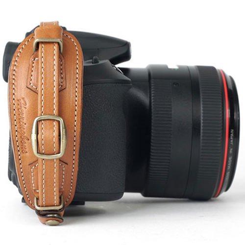 (Herringbone Heritage Type2 DSLR SLR Camera Leather Hand Grip Strap Camel Brown)