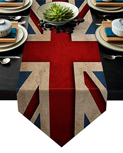 Cloud Dream Home UK Flag Cotton Linen Table