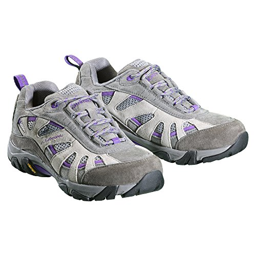 Kathmandu Sandover Women's NGX Water Resistant Walking Shoes Grey/Purple npSMUN