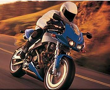 Wasserdicht Motorradjeans Sportliche Motorrad Hose Mit Protektoren Motorradhose 85cm Waist Schwarz, M=30