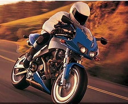 Pantalon Moto imperm/éable Pantalons de Moto Homme Jeans en Jean avec 4 Protections Protections Pantalon Racing Knight 100cm Waist Bleu, XXL=36