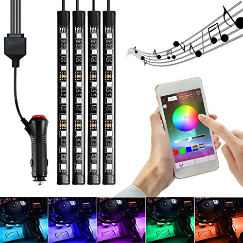 AMBOTHER-4x-Car-LED-RGB-Music-Interior-Atmosphere-Floor-Underdash-Lighting-RGB-Music-Control-Strip-Lights-Kit-Multicolor-APP-Bluetooth-Controller-for-iPhone-Android