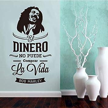 HNXDP etiqueta de la pared española Bob Marley vinilo pared calcomanía arte papel tapiz cartel mural sala de estar decoración del hogar decoración de la casa 40x76 cm: Amazon.es: Bricolaje y herramientas