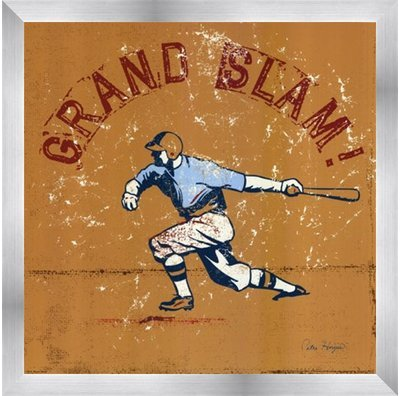 (Poster Palooza Framed Grand Slam- 12x12 Inches - Art Print (Stainless Steel)