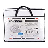 Homescapes King Size 13.5 Tog - Luxury White Goose Feather & Down Duvet - 100% Cotton Anti Dust Mite & Down Proof Fabric - Anti Allergen - Washable at Home Winter Quilt