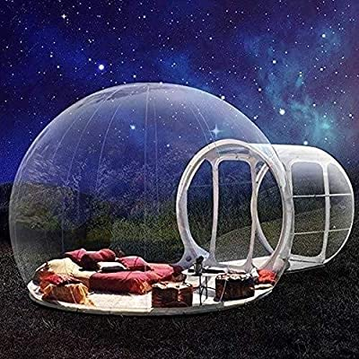 ZBYZF Outdoor Canopy Inflatable Bubble Camping Tent Single Tunnel Family Camping Tent for Family Backyard Camping Festivals Stargazing, with Blower : Garden & Outdoor