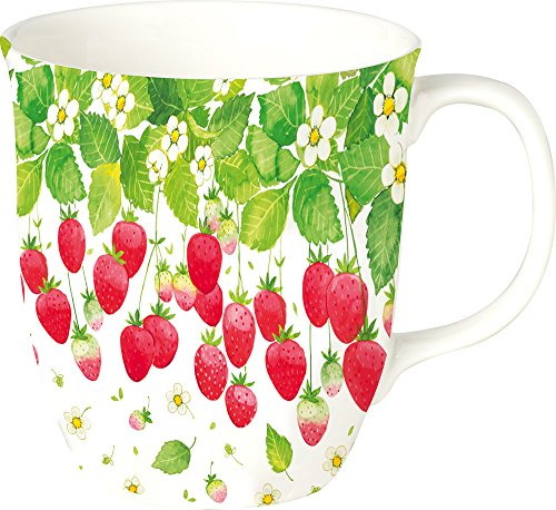 (Boston International Bone China Strawberry Season Drinking Mug, 4