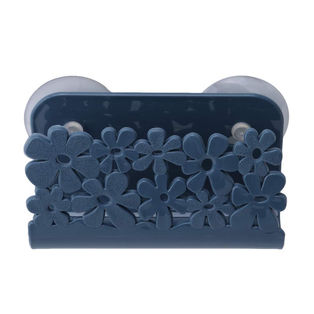 EH-LIFE Kitchen Sink Soap Cloth Holder Hanging Strainer Organizer Storage Case Navy Blue