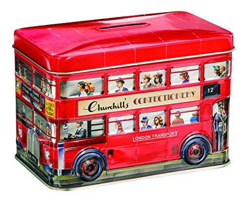- Churchill's London Bus Money Box Tin with Toffees 200 g [Grocery]