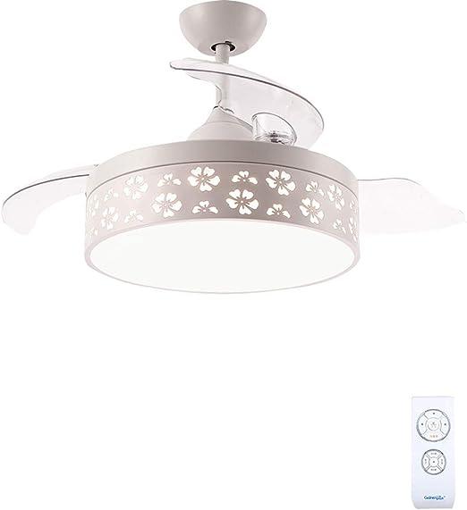 Dmxydd Ventilador de Techo Moderno LED Ventilador de Techo Control ...