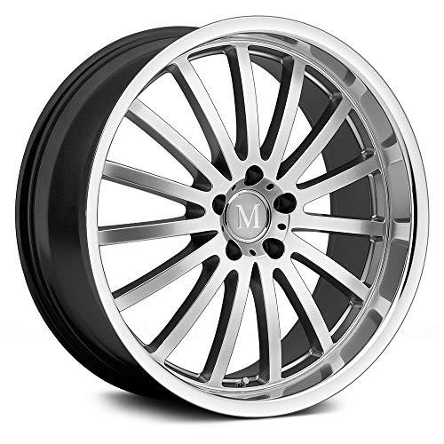 18x8.5 Mandrus Millenium (Hyper Silver w/ Mirror Lip) Wheels/Rims 5x112 (1885MAM325112S66)