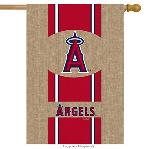 MLB Burlap Flag MLB Team: Los Angeles Angels of Anaheim Los Angeles Angels Team Store