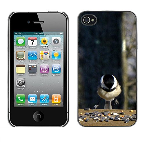 Premio Sottile Slim Cassa Custodia Case Cover Shell // F00032892 oiseau Landing // Apple iPhone 4 4S 4G