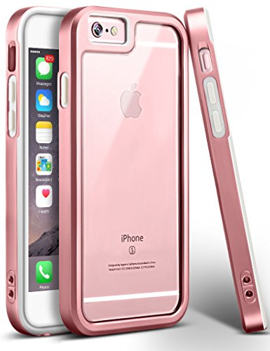 iPhone 6s Case, Ansiwee Reinforced Frame Crystal Highly Durable Shock-Absorption Hard PC & Flexible Soft Rubber TPU Bumper Hybrid Protective Case for Apple iPhone 6/6S 4.7