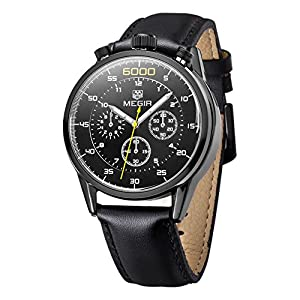 MEGIR Men's Watches Multifunction Fashion Watches MEGIR 3005L (black)