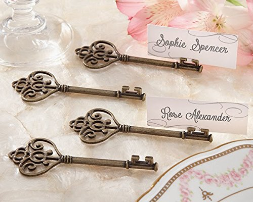 120 ''Key To My Heart'' Victorian-Style Key Place Card Holder by Kateaspen