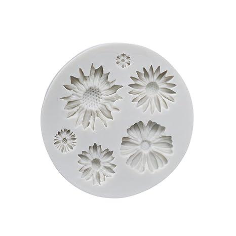 Vi.yo - Molde de silicona para tartas, diseño de flor de sol 3D