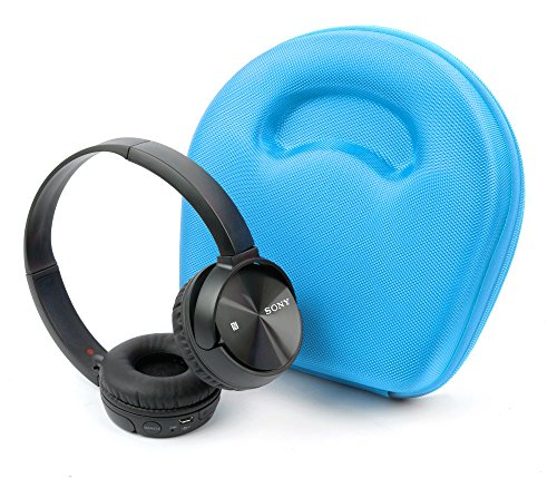 DURAGADGET Hard 'Shell' EVA Headphone Case (Blue) - Compatible with Sony MDR-ZX770BN | MDR-ZX330 | MDR-ZX330BT Bluetooth Headphones