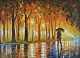 Bewitched Park is one of Leonids most Magnificent park scenes. The colors pop from the canvas and will brighten any room this piece is hung in. This piece is an Afremov Classic! Each of these Gallery Proofs (GP) are hand-embelished, signed and number...