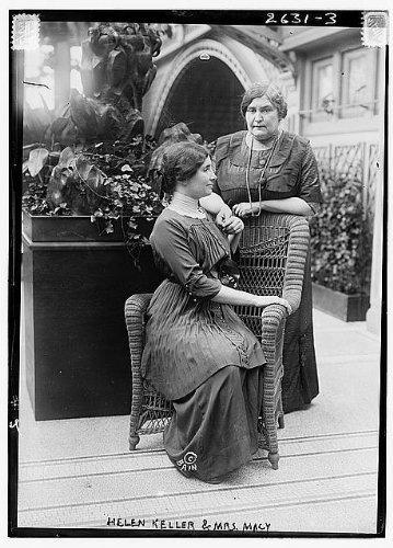 Photo: Helen Keller,Mrs Macy,possibly at International Flower Show,New York City,1913 - Macys New Map York