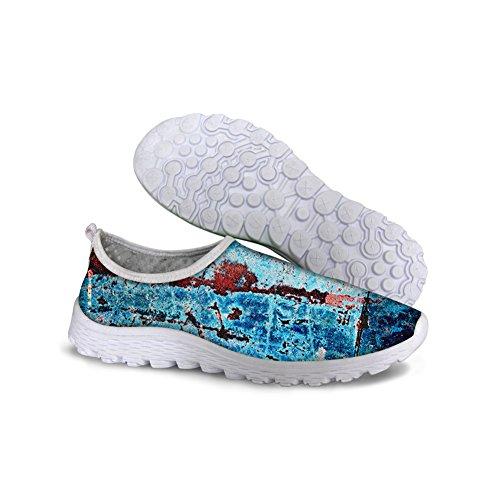 Pour U Conceptions Rétro Chaussures De Marche En Maille Womens Casual Chaussures De Course Deau Bleu 2