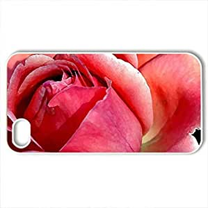 Beautiful roCase For Iphone 4/4S Cover (Flowers Series, Watercolor style, White)